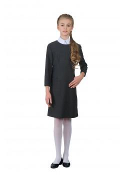 Платье Колледж серый 19003