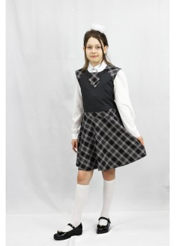 Сарафан Лира серый 15016 Гулливер