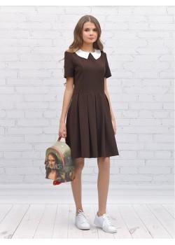 Платье детское Шф1052 Ностальжи коричневый