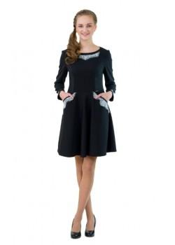 Платье Престиж черный Кружево 19004