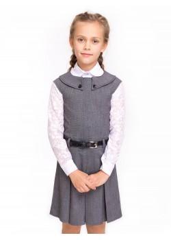 Платье-сарафан Кембридж серый Шф 368